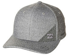 "NEW + TAG BILLABONG MENS BOYS ""STATION"" S-M CURVED PEAK FLEXFIT CAP HAT ASPHALT"