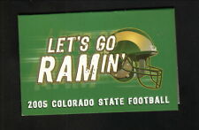 Colorado State Rams--2005 Football Pocket Schedule