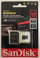 128GB SanDisk Extreme micro SD XC Memory Card V-Class 30 U3 4K Video A1 100MB/s
