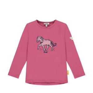 STEIFF  Shirt Langarm Pferd pink Gr. 92 - 116 NEU