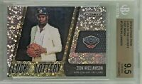 Zion Williamson 2019-20 Panini Prizm Fast Break Luck of the Lottery Rookie
