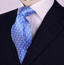 "Blue Matrix Luxury Basket Weave 3.15"" Tie 8cm Necktie Mens B2B Fashion Accessory"