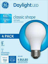 GE Lighting  A19  LED Bulb  Daylight  60 Watt Equivalence 4 pk