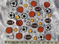 Crafting Scrap Booking Card making Iron On Fabric Appliqués Large Sports Balls