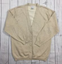 EUC Women's Talbots Metallic Gold Cardigan Sweater-Size M