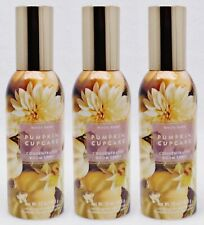 3 Bath & Body Works PUMPKIN CUPCAKE Concentrated Mini Room Spray Perfume 1.5 oz