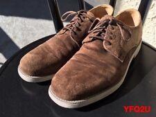 FLORSHIEM x DUCKIE BROWN Nubuck Suede Plain Toe DERBY Shoes SZ-8.5D