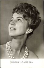 Ak Polnische Sängerin Bogna Sokorska, Perlenkette, Portrait - 551394