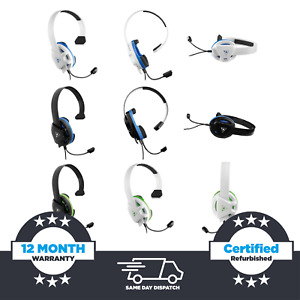 Turtle Beach Recon Chat Gaming Headset Console - Xbox One & PS4, Black & White