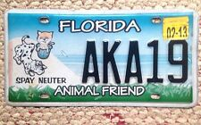2013 FLORIDA ANIMAL PET FRIEND FRIENDLY DOG CAT SPECIALTY LICENSE PLATE COLORFUL