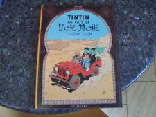 belle reedition tintin au pays de l'or noir 4e plat b39  1970/71