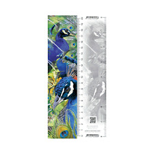 Worth Keeping 3D Lenticular Bookmark/Ruler - PEACOCK - #WK-BM-995