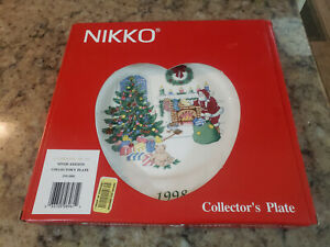 Christmastime by Nikko Ceramics 1998 Collector's Plate, 10 7/8 Chestnuts On Fire