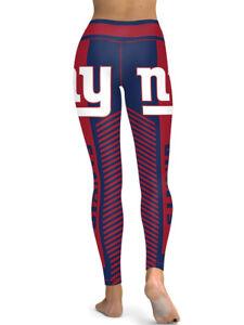 New York Giants Leggings Small-XXL (0-14) Football Fan Gift Game Gear NY Stripes