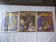 Lot Of 3 Starline / NBA Framed Poster Pictures,2,Lakers Kobe / Shaq,1,76ers Iver