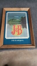 "Vintage J&B Scotch Whisky Mirror - Sign - Bar Advertising ""J&B. It Whispers"""