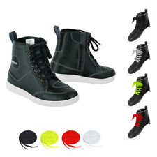 Genuine Leather Motorbike Shoes Armour Sneaker Motorcycle Biker Riding Sneakers