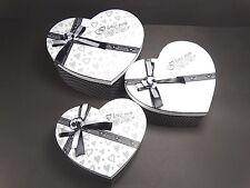 Grey Hearts Design Decorative Storage Trinket Gift Christmas Box Set of 3