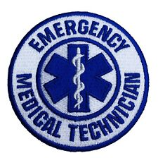 EMT Patch Emergency Medical Technician Iron / Sew on Badge Paramedic First Aid