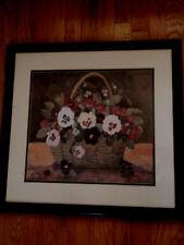 Basket/ of pansies/ water/ colors/