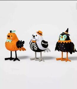 2020 Pumpkin Park Fabric Halloween Bird Set Hyde & Eek Boutique Figurine Target