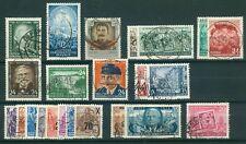 DDR Jahrgang 1954 , gestempelt , Auswahl aus Michel Nr. 423 - 445