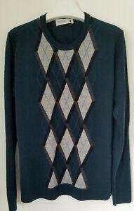 Pringle of Scotland One Off Argyle Fine Knit Sweater - Size L (RRP £275)