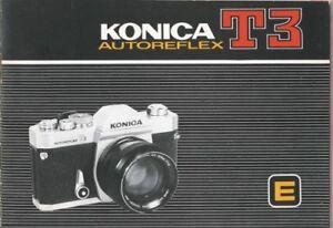 Konica Autoreflex T3 Instruction Manual Original