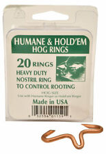 Decker Mfg Co. Humane & Hold'em Hog Rings, 20 Count Box, Hog size