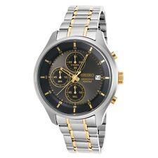 Seiko SKS543P1 Men's Black Dial Two Tone Bracelet Chrono Watch