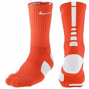 Nike Elite Dri Fit Crew Socks - SX7626 891 - Orange / White - M (6-8)