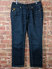 G-Star 27 x 28  Midge Jeans Damen Blau Blue Denim Straight Hose Capri Ankle