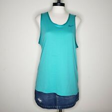 Nike Men's Green Tank Top Athletic Sleeveless Shirt Size Medium Casual
