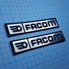 TWO (2) x FACOM Metallic - Aluminum Logo Sticker Badge - 70 mm x 14 mm