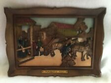 "Vintage 1970s Homco Syroco 3-D Wall Hanging Plaque ""Travelers Rest"" 14"" x 10"""