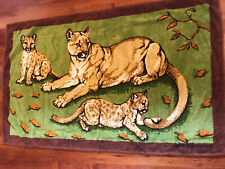 """Authentic Hermes Beach Towel With Printed Leopard Design -  Vintage 54 """"X 34"""""""