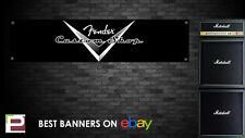 Fender Custom Shop Banner, for Rehearsal Room, Studio, Garage, Stratocaster etc