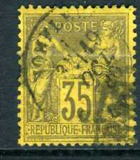 France 1878 Peace & Commerce 35¢ TYPE I Deep Brown Yellow Very Fine Used Z291 ⭐⭐