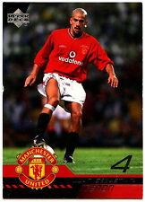 Juan Sebastian Veron Man. United #45 Upper Deck 2001 tarjeta de comercio de fútbol (C361)