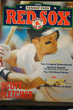 LOT OF 6 NM UNSCORED RED SOX PROGRAMS 1993 FOURTH EDITION