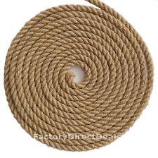 12 mm spessore x 5 M 100% Naturale Fibra Di Iuta Tela Di Iuta Corda Contorto Corda artigianali fai da te