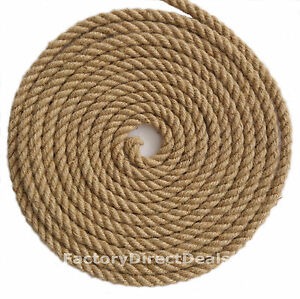 12 mm thick x 5m  100% Natural Fibre Jute Hessian Rope Twisted Cord Craft DIY
