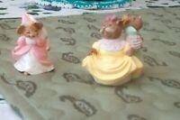 Hallmark Club Merry Miniatures Figurines 1995 Stepsisters -1994 Cinderella Set