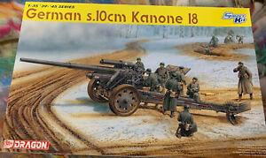 Dragon Model Kit #6411 1/35 ~ German s.10cm Kanone 18