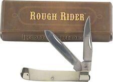 Rough Rider White Smooth Bone Handle Mini Trapper Pocket Knife RR1262
