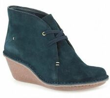 Clarks Wedge High (3-4.5 in.) Lace Up Boots for Women