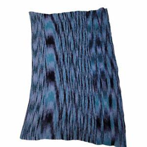 "Vintage Handmade Afghan Crochet Lap Blanket Small Throw 36"" X 50"""