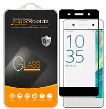 Supershieldz Sony Xperia XA Full Cover Tempered Glass Screen Protector (Black)
