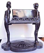 Unique & Rare Art Deco Frankart Coffin Girls Nude w Black Glass -Reduced!
