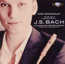 1-CD BACH - CONCERTOS FOR RECORDER - ERIK BOSGRAAF / ENSEMBLE CORDEVENTO (CONDIT